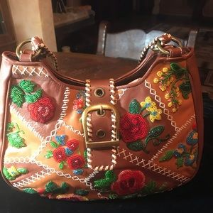Handbags - Isabella Fiore Hand Embroidered with Stitching